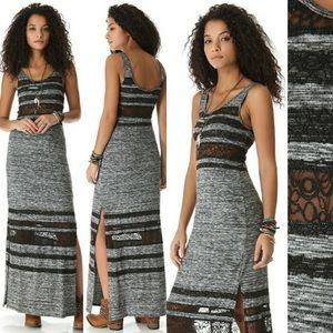 Free People Lazy Daze Lace Stripe Maxi Dress